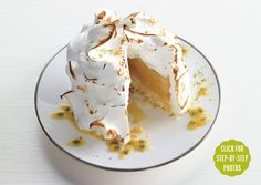 Baked Hawaiian Islands _ Classic baked Alaska is turned on its head with these individual desserts from Elizabeth Falkner of San Francisco's Citizen Cake. Coconut, pineapple, passion fruit, and sorbet lend a tropical twist. Shortbread, Meringue, Pineapple Sorbet, Pineapple Cake, Baked Alaska, Individual Desserts, Island Food, Hawaiian Islands, Candy