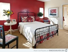 Red Bedroom Wall This Is What Our Room Will Sort Of Look Like Eventually Renovations And Redecorating Pinterest Red Bedrooms Bedroom Ideas And