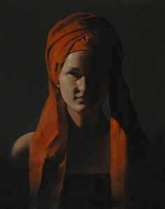 Figure in Red, 2011, oil on canvas, baroque-inspired, Ray Donley