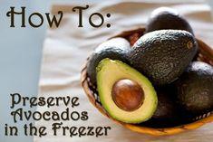 How To Preserve Avocado's In The Freezer