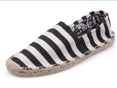 White Black Toms New Arrivals Womens stripe shoes