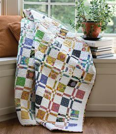 Disappearing Four Patch pattern great for kid fabrics