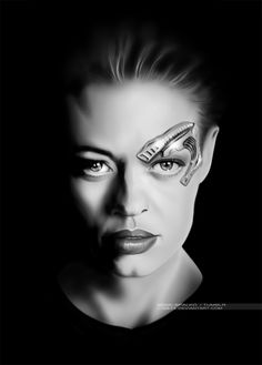Seven of Nine portrait by G672.deviantart.com on @deviantART #startrek #voyager