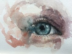 New Painting Watercolor Eye 28 Ideas Eye Painting, Figure Painting, Watercolour Painting, Watercolours, Watercolor Face, Watercolor Portraits, Painting Glass Jars, Abstract Oil, Female Art