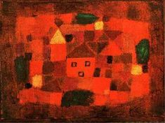 Landscape at Sunset by Paul Klee (1879-1940, Switzerland)