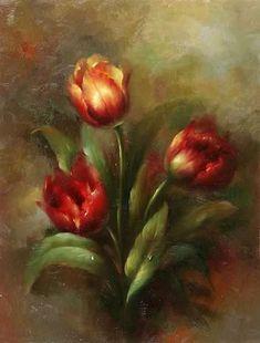 тюльпаны живопись картины: 14 тыс изображений найдено в Яндекс.Картинках