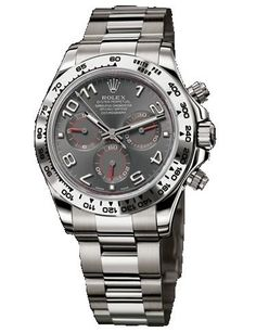 Rolex Daytona White Gold Bracelet Watch, Slate Gray Arabic Dial: Watches:expensive watches for men Dream Watches, Fine Watches, Luxury Watches, Rolex Watches, Amazing Watches, Beautiful Watches, Cool Watches, Watches For Men, Rolex Daytona White