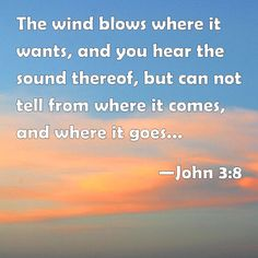 wind ~ proof that there are things in this world we know exist but cannot see (John 3:8)