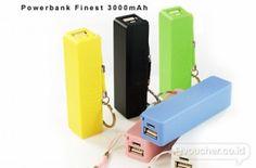 SPESIAL PRICE !Simpan Cadangan Energi Listrik Gadgetmu Di Dalam PowerBank Avolution, Finest, & Chelsea Ini Mulai Dari Rp. 48,000 - www.evoucher.co.id #Promo #Diskon #Jual  Klik > http://evoucher.co.id/deal/PowerBank-Avolution-Finest-dan-Chelsea  Simpan dan gunakan energi listrik untuk gadgetmu menggunakan Power Bank berbentuk Avolution, Finest, & Chelsea. Terdapat 2 pilihan kapasitas sesuai kebutuhanmu 2800mAh, dan 3000mAh  Pengiriman akan dilakukan mulai tanggal 2014-0