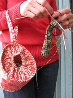 Wristlet for Knitting and Crochet-Eco Pond. $34.00, via Etsy.  (great idea... looks simple to make)