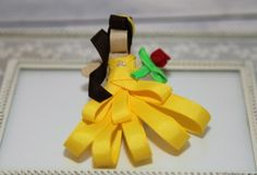 Beauty and the Beast Belle Ribbon Sculpture Hair Clip: Edelweiss Bowtique