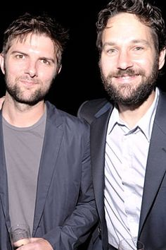 Adam Scott and Paul Rudd Can't Wait to Nair These Beards Adam And Paul, Ben Wyatt, Man Crush Monday, Paul Rudd, Rhyme And Reason, Awesome Beards, Hollywood Actor, Parks And Recreation, Im In Love