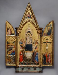 The Virgin and Child Surrounded by Saints, between 1350 and 1365, Follower of Bernardo Daddi (possibly Pietro Nelli). Tempera and gold leaf on panel, 37 ½ x 26 in. (95.3 x 66 cm). Portland Art Museum, 61.51