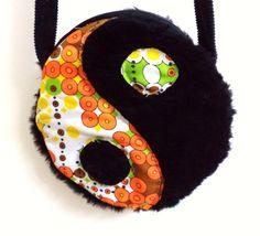 1990s Inspired Fuzzy Yin Yang Purse by MAGICbyAnnaPanda on Etsy