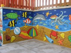 little acorns pre school playground mural by lisa temple-cox, via Flickr