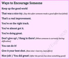 Ways to Encourage Someone
