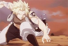 Fairy Tail | Sting and Rogue vs. Sabertooth Old Master