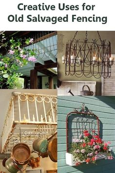Repurposing Old Fence or Garden Gates - Love the Kitchen Rack Ideas! - Click image to find more DIY & Crafts Pinterest pins
