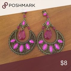 Earrings Beautiful magenta earring Jewelry Earrings