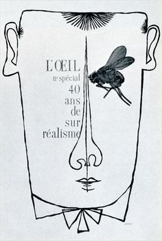 Cover of L'oeil magazine's special issue on Surrealism, by Pierre M. Comte.
