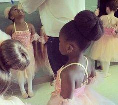 Beautiful Ballerina Bun - http://www.blackhairinformation.com/community/hairstyle-gallery/kids-hairstyles/beautiful-ballerina-bun/ #kidshairstyles