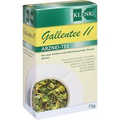 GALLENTEE II:   Packungsinhalt: 75 g Tee PZN: 03962248 Hersteller: Heinrich Klenk GmbH & Co. KG Preis: 2,66 EUR inkl. 19 % MwSt. zzgl.…