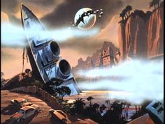 """Some Post-Apocalyptic scenery from """"Thundarr The Barbarian"""""""