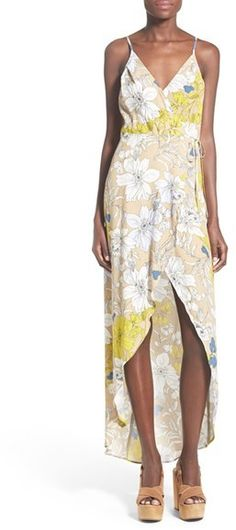 ASTR 'Donna' Floral Print Surplice Dress, women, fashion, clothing, clothes, style