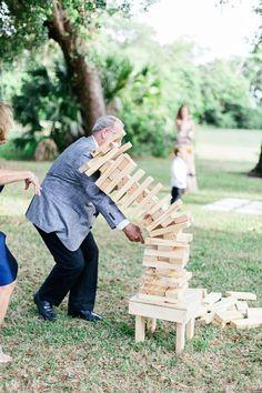Wedding lawn games - jenga