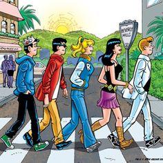 Jughead, Reggie, Betty, Veronica, and Archie!