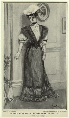[Woman in dress and hat, 1901s.]  1905