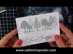 ▶ Christmas Card Making Series #1 Stampin' Up Lovely as a Tree - YouTube
