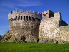 Fortress of Populonia, Populonia Alta, Piombino, Tuscany, Italy. www.castlesandmanorhouses.com The Fortress of Populonia is a massive defensive structure built in the 15th century by the Appiani lords of Piombino, using stones taken from ancient...