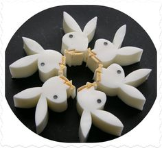 6 PLAYGIRL PLAYBOY BUNNY Soap Set  Party by SCENTSOFHUMORCANDLES, $9.99