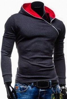 Side Zipper Pullover Hoodie – eDealRetail Mens Sweatshirts 3e6249737cb9