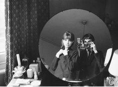 """solo-vintage:  Andrew Birkin:""""This was taken at my mother's dressing table. I was about 17 years old and about to hitchhike across America...."""