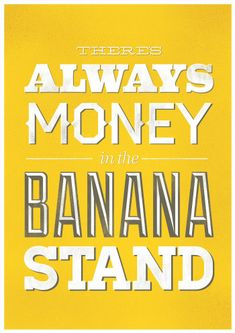 Banana Stand (Arrested Development) Poster by Visual Etiquette $20.00