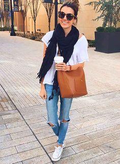 Jeans, bag, top