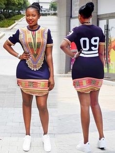 Dashiki Side Split Zipped Digital T-shirt African Dashiki Dress, African Print Dresses, African Fashion Dresses, Ankara Dress, African Attire, African Wear, African Women, African Inspired Fashion, African Print Fashion