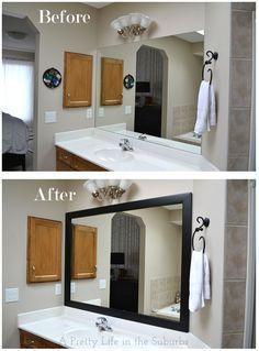 Diyupgradebathroommirror Frame Mirror