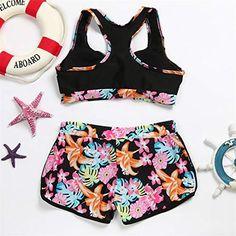 278960dd6f494 Toponly Women Vintage Flower Print Tank Top High Waisted Bathing Suits  Bikini Set, #Ad