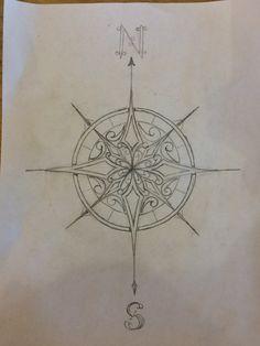 Trendy Tattoo Mandala Rose Kompass - Famous Last Words Mandala Tattoo Design, Mandala Compass Tattoo, Dotwork Tattoo Mandala, Compass Drawing, Compass Art, Compass Tattoo Design, Nautical Compass Tattoo, Mandala Drawing, Tattoos Bein