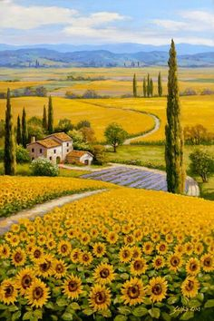 Science Discover 46 Super Ideas For Painting Sunflower Field Tuscany Italy Beautiful Paintings Beautiful Landscapes Landscape Art Landscape Paintings Tuscany Landscape Under The Tuscan Sun Sunflower Fields Field Of Sunflowers Sunflower Garden Beautiful Paintings, Beautiful Landscapes, Landscape Art, Landscape Paintings, Tuscany Landscape, Nature Paintings, Watercolor Landscape, Under The Tuscan Sun, Sunflower Fields