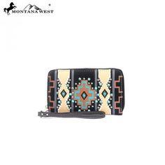 Montana West Western Aztec Collection Wristlet Wallet – Handbag Addict.com