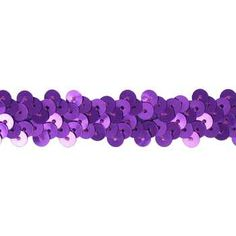 "Purple 7/8"" 2-Row Stretch Sequin Trim"