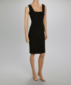 Look at this #zulilyfind! Black Square Neck Dress by Quiz #zulilyfinds