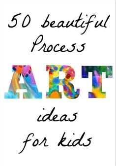 and activities for kids. Here is a list of 50 beautiful process art ideas for the kids. the for 50 Easy Process Art Activities for Kids from Fun at Home with Kids Classe D'art, Atelier D Art, Art Activities For Kids, Social Activities, Art For Kindergarteners, Art For Preschoolers, Painting Activities, Art Therapy Activities, Art Lessons For Kids