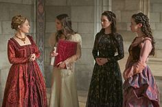 Reign (Megan Follows, Caitlin Stasey, Adelaide Kane, Anna Popplewell as Queen Catherine de Medici, Lady Kenna, Mary Queen of Scots and Lady Lola)
