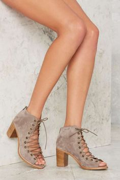 Jeffrey Campbell Cors Bootie - Taupe Suede - Shoes