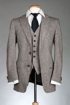 Tweed suits for the groom and groomsmen?